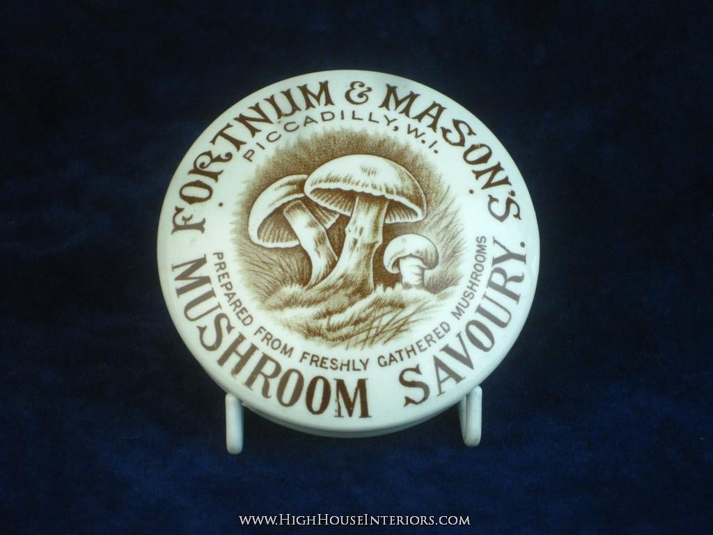 Old Pot Lid Fortnum & Mason`s Mushroom Savory Paste - Perfect condition