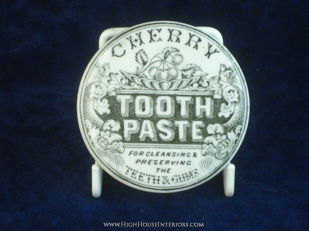 Old Pot Lid Cherry Tooth Paste - Slight staining and very very minor edge nibbling only