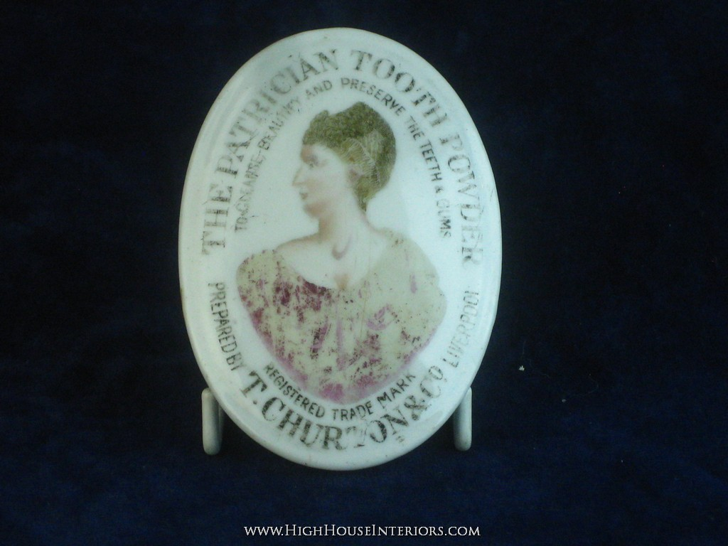 Old Pot Lid The Patrician Tooth Paste by Churton Liverpool - Wear to face - chip to rim - includes