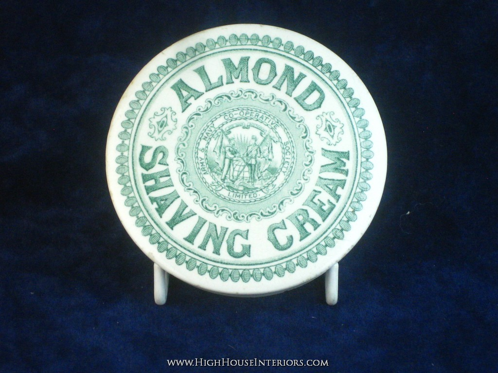 Old Pot Lid Army & Navy Cooperative Almond Shaving Cream - Tiny nibbles otherwise excellent - 3.5