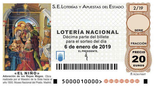 Décimo 75697 del sorteo 2-06/01/2019 El NiÑo