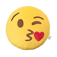 Blow a Kiss emoji Cushion | emoji® Cushion