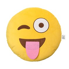 Tongue Wink emoji Cushion | emoji® Cushion