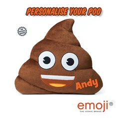 Personalised emoji® children's cushion. Create your unique Poo now!