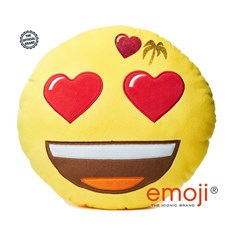 Love Island Glitter Heart Eyes emoji® Brand Cushion | Official Licensed Product