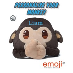 Personalised emoji® children's cushion. Create your unique Monkey gift idea now!