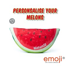 Personalised Melon emoji® Brand Cushion | Official Licensed Product