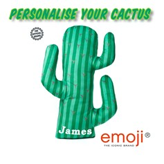 Personalised emoji® children's cushion. Create your unique Cactus gift idea now!