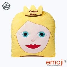Cocktail Queen' Glitter Princess emoji® Brand Cushion | Official Licensed Product