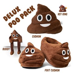 Poo emoji Cushions Deluxe Mutli Pack - Size Medium UK 5-8 Feet | emoji® Cushion gift pack