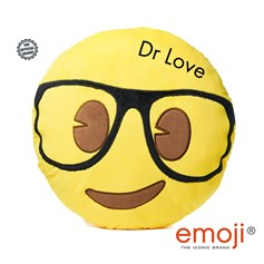 Love Island 'Dr Love' emoji® Geek Face Brand Cushion | Official Licensed Product