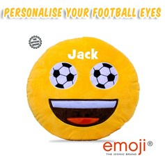 Personalised Football Eyes emoji® Brand Cushion | Official Licensed Product