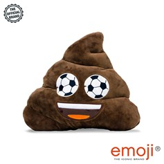 Poo Football Eyes emoji® Brand Cushion | Official Licensed Product