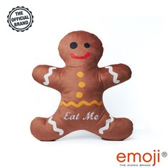 Eat me' Glitter Ginger Bread emoji® Brand Cushion | Official Licensed Product