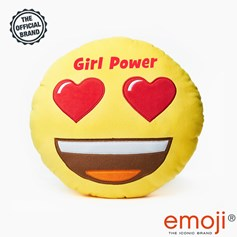Girl Power' Glitter Heart Eyes emoji® Brand Cushion | Official Licensed Product