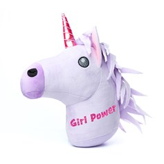 'Girl Power' Galentine's Day glitter Unicorn emoji® Brand Cushion | Official Licensed Product