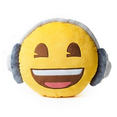 emoji® Headphones Cushion, the perfect children's cushion and gift idea.