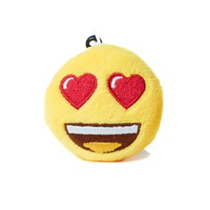 Heart Eyes emoji® Keyring, a cute keychain and gift idea.