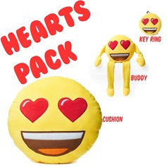 Heart Eyes emoji® pack | emoji® Cushion gift pack