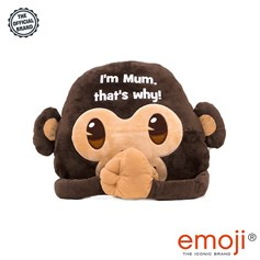 I'm Mum that's why!' Monkey emoji® Brand Cushion | Official Licensed Product