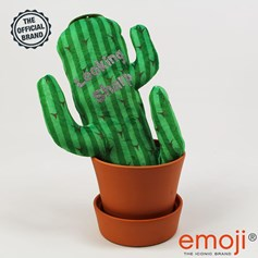 Looking sharp' Glitter Cactus emoji® Brand Cushion | Official Licensed Product