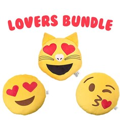 Lovers Bundle emoji Cushion Pack | emoji® Cushion gift pack
