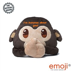 'I'm bananas about you' Monkey emoji® Brand Cushion | Official Licensed Product
