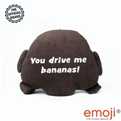 'You drive me bananas!' Monkey emoji® Brand Cushion | Official Licensed Product