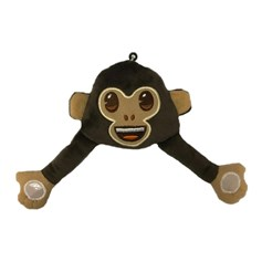Monkey emoji® Keyring, a funny keychain and gift idea.