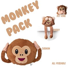 Monkey emoji Cushion Pack | emoji® Cushion gift pack