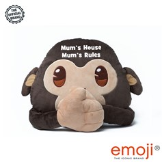 Mum's House Mum's Rules' Monkey emoji® Brand Cushion | Official Licensed Product