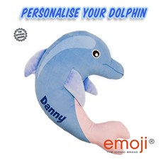 Personalised Dolphin emoji® Brand Cushion | Official Licensed Product