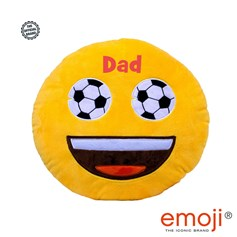 'Dad' Football Eyes emoji® Brand Cushion | Official Licensed Product