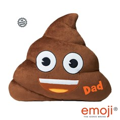 'Dad' Poo emoji® Brand Cushion | Official Licensed Product