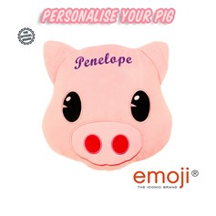 Personalised Pig emoji® Brand Cushion | Official Licensed Product