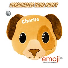 Personalised Puppy emoji® Brand Cushion | Official Licensed Product