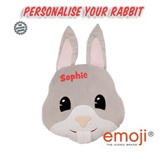 Personalised Rabbit emoji® Brand Cushion | Official Licensed Product