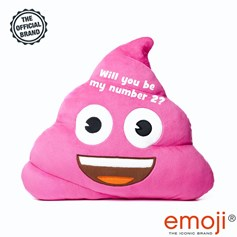 'Will you be my number 2?' Pink Poo emoji® Brand Cushion | Official Licensed Product