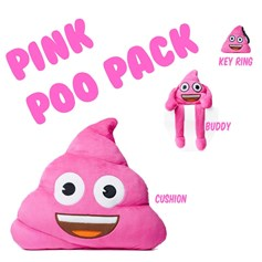 Pink Poo emoji® pack | emoji® Cushion gift pack