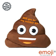 'Will you be my number 2?' Poo emoji® Brand Cushion | Official Licensed Product