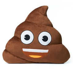 emoji® Poo Cushion, an unusual and funny children's cushion gift.