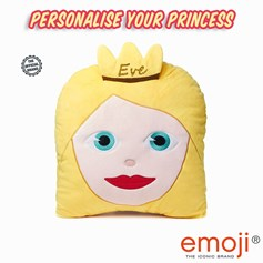 Personalised emoji® children's cushion. Create your unique Princess gift idea now!