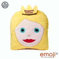'Prosecco Princess' Women's Day Glitter Princess emoji® Brand Cushion | Official Licensed Product