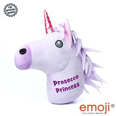 'Prosecco Princess' Glitter Unicorn emoji® Brand Cushion | Official Licensed Product