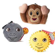 Sun, moon, monkey emoji Key Chain Pack | emoji® Key Chain gift pack