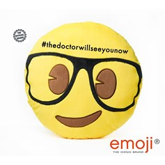 #thedoctorwillseeyounow emoji®  Geek Face Brand Cushion | Official Licensed Product
