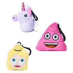 Unicorn, Princess and Pink Poo emoji® Key Chain Pack | emoji® Key Chain gift pack