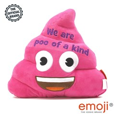 We are poo of a kind' Glitter Pink Poo emoji® Brand Cushion | Official Licensed Product