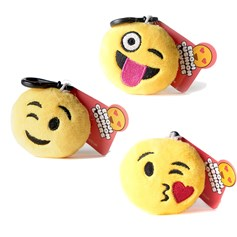 Wink wink, Blow a kiss, Tongue wink emoji Key Chain Pack | emoji® Key Chain gift pack