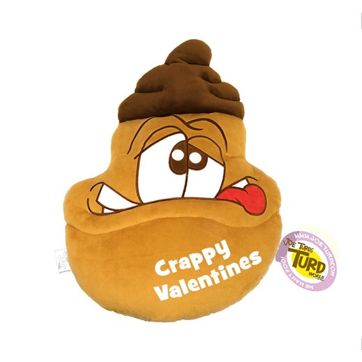 'Crappy Valentines' Brains the Turds® Cushion